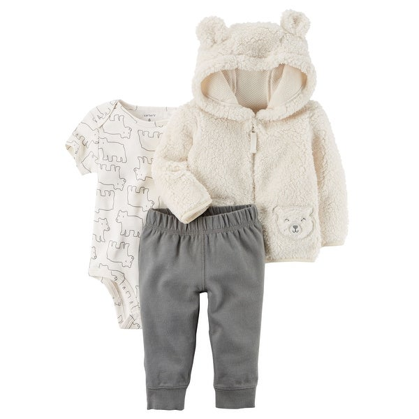 eef7990de Shop Carter s Baby Boys  3-Piece Sherpa Jacket Set- Ivory Bear- 9 ...