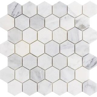 "Emser Tile M05WINT1212M2H Marble - 12"" x 12"" Hexagon Mosaic Multi-Surface Tile - - N/A"