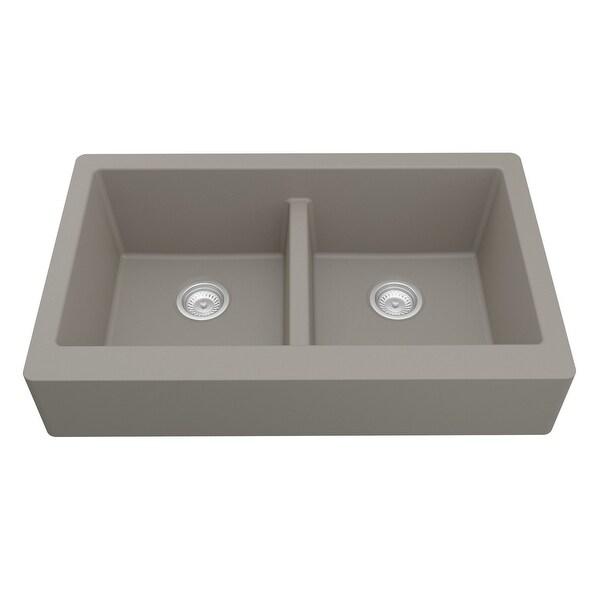 Karran Retrofit Apron Front Quartz Double Bowl Kitchen Sink. Opens flyout.