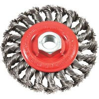 "Forney Industries 4"" Twist Knot Wire Wheel 72759 Unit: PKG"
