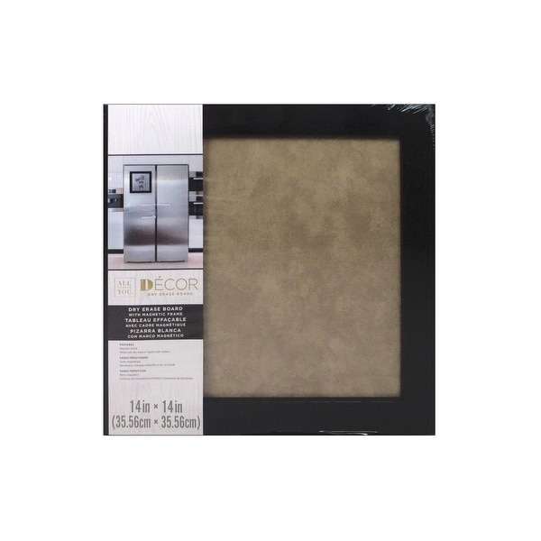 "Darice Dry Erase Board 14x14"" Blk/Taupe"
