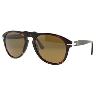 PERSOL Oval PO 649 Unisex 24/57 Havana Brown Polarized Sunglasses - 54mm-20mm-140mm