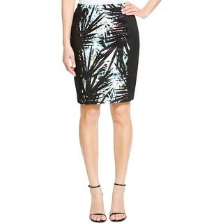 T Tahari Womens Ryan Pencil Skirt Printed Colorblock
