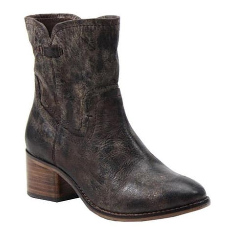 Diba True Women's West Haven Ankle Boot Charcoal Leather