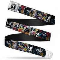 Marvel Universe Venom Spider Logo Full Color Black White Venom Comic Book Seatbelt Belt