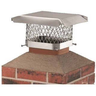 "Hy-C SCSS1313 Stainless Steel Shelter Chimney Cap, 13"" x 13"""
