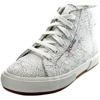 Superga 2095 Crackedleaw Round Toe Leather Sneakers