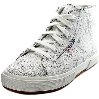 Superga 2095 Crackedleaw Women Leather White Fashion Sneakers