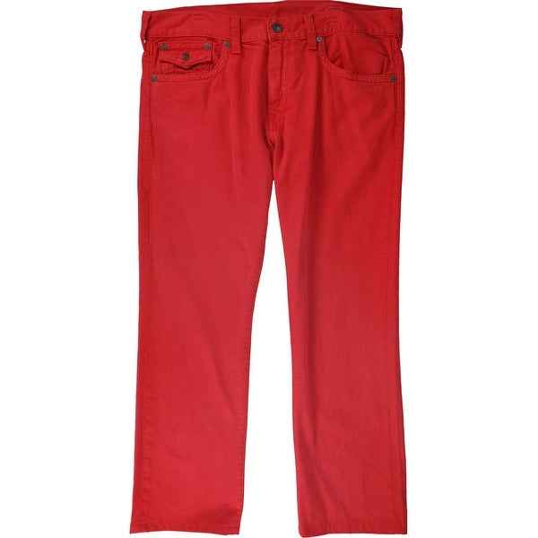 True Religion Mens Ricky Relaxed Jeans, Red, 38W x 31L - 38W x 31L. Opens flyout.