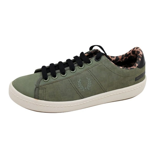 Fred Perry Men's Bodega Reissue Tennis Shoe 2 Olive SB7060