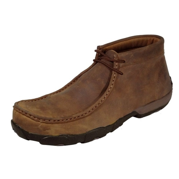 Twisted X Work Shoes Mens Driving Mocs Steel Toe Saddle MDMST01