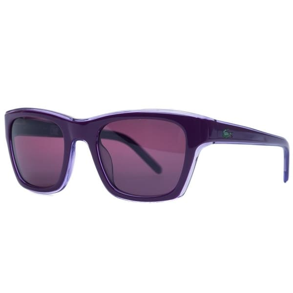 429cf2e170 Shop Lacoste L645S 538 Lilac Rectangle Sunglasses - 51-21-135 - Free ...