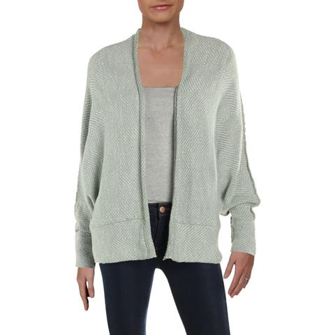 Free People Womens Cardigan Sweater Heathered Open Front