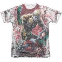 Jla Aquaman Vs Manta Mens Sublimation Poly Cotton Shirt