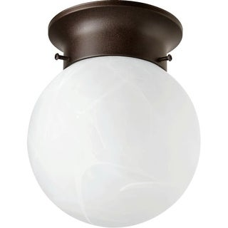 "Quorum International Q3304-6 Single Light 6"" Wide Flush Mount Ceiling Fixture with Glass Shade"