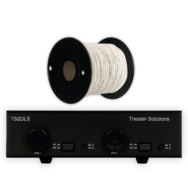 Theater Solutions TS2DLS Speaker Selector Box with Dual Source & C100-14-2 Wire