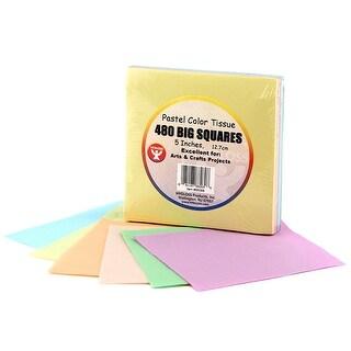 5In Tissue Squares Pastel 480 Pcs.