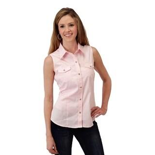 Roper Western Shirt Womens Sleeveless Snap Pink 03-052-0265-0066 PI