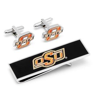 Oklahoma State Cowboys Cufflinks and Money Clip Gift Set NCAA - Orange