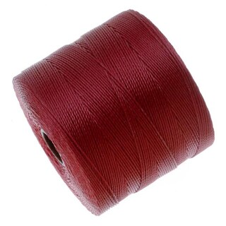 BeadSmith Super-Lon (S-Lon) Micro Macrame Twisted Nylon Cord - Scarlet Red / 287 Yard Spool