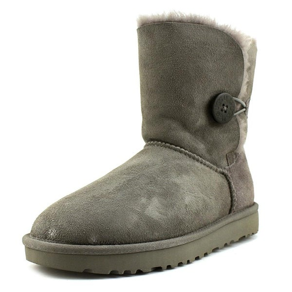 UGG Collection Bailey Button II Round Toe Suede Winter Boot