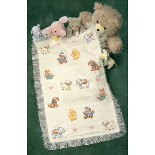 """Sweet Animal Afghan Counted Cross Stitch Kit-29""""X45"""" 18 Count"""