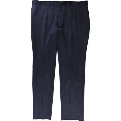 Donald J. Trump Mens Flat Front Dress Pants Slacks, Blue, 45W x UnfinishedL - 45W x UnfinishedL