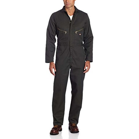 Dickies Men's Deluxe Large Olive Green Long Sleeve Blended Coveralls