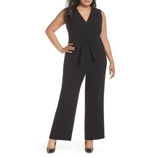 Link to VINCE CAMUTO Womens Black Sleeveless Wide Leg Jumpsuit  Size 24W Similar Items in Outfits