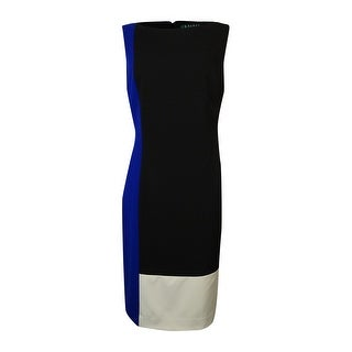 Lauren Ralph Lauren Women's Sleeveless Colorblock Sheath Dress