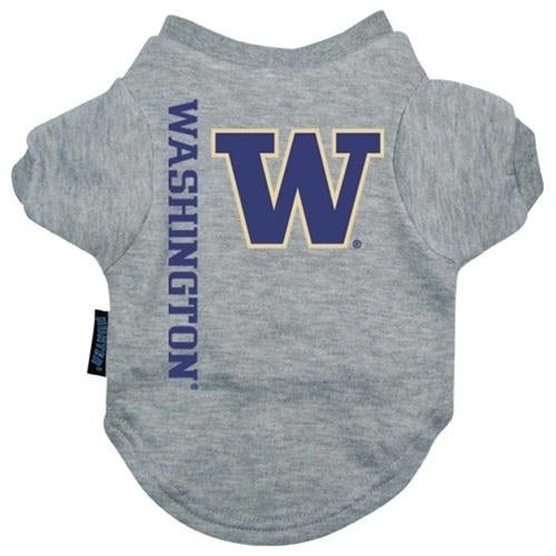 low priced a30b6 2da71 Washington Huskies Heather Grey Pet T-Shirt - Large