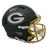 Brett Favre Autographed Green Bay Packers Blaze Replica Helmet Radtke
