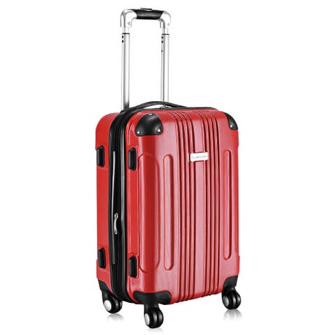 GLOBALWAY Expandable 20'' ABS Luggage Carry on Travel Bag Trolley