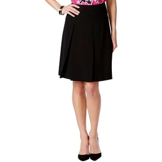 Nine West Womens A-Line Skirt Lined Box Pleat