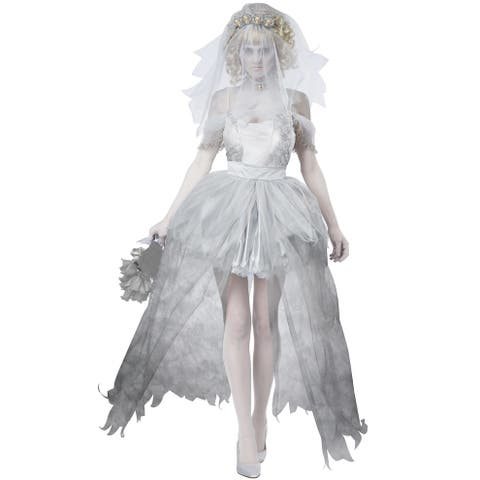 California Costumes Ghostly Bride Adult Costume