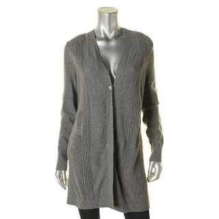 Lafayette 148 Womens Cardigan Sweater Wool Textured