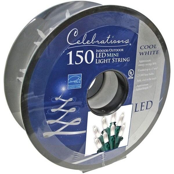 Celebrations 40754-71 Mini LED Light Reel, Cool White, 35.58'