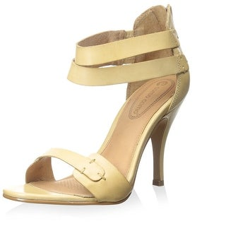 Corso Como Womens Turks Leather Open Toe Formal Ankle Strap Sandals