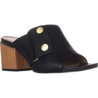 Calvin Klein Joelle Slip-On Square Toe Mules, Black