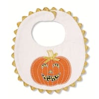 Fall Halloween Pumpkin Appliqued Baby Toddler Bib