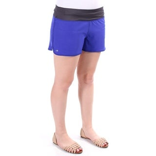 IDEOLOGY $30 Womens New 1003 Purple Run Pocketed Cropped Active Wear Short XL BB