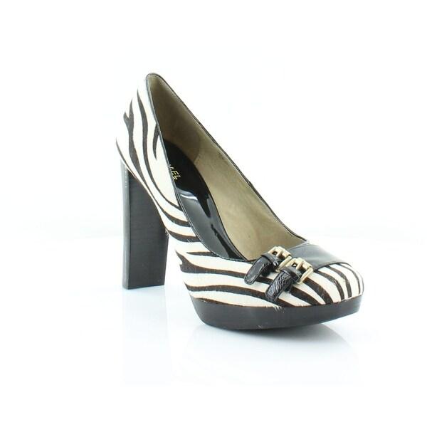 MICHAEL by Michael Kors Austin Double Buckle Women's Heels Zebra - 10