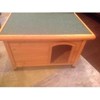 Trixie Natura Medium Weatherproof Flat Roof Glazed Pine Doghouse