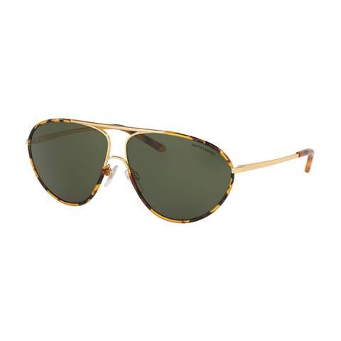 Ralph Lauren RL7066J 937271 62 Gold/antique Havana Woman Pilot Sunglasses