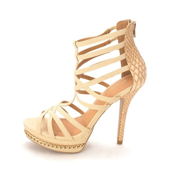 ShoeDazzle Womens Talisha Open Toe Casual Strappy Sandals - 9