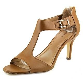 Style & Co Sachii Women Open-Toe Synthetic Brown Heels