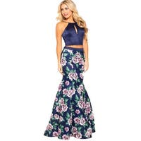 JVN by Jovani Womens 59138A Crop Top Dress Prom Two Piece