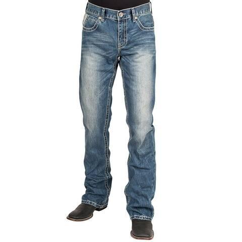 Stetson Western Denim Jeans Mens 1014 Fit Light