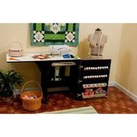Arrow Sewnatra Compact Cabinet w/ Convenient Air-Lift - Black Finish