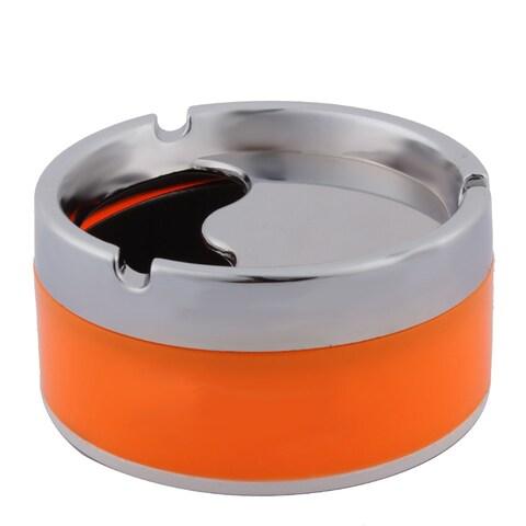 Household 3 Grooves Design Rotatable Cigarette Holder Ashtray Container 10cm Dia